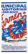 Poster For Production Of Carmen Beach Towel