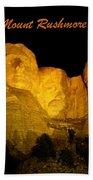 Poster Of Mount Rushmore Beach Towel