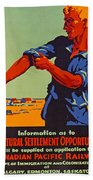 Poster Promoting Emigration To Canada Beach Towel