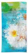 Pot Of Daisies 02 - J3327100-bl1t22a Beach Towel