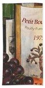 Pouilly Fume 1975 Beach Towel by Debbie DeWitt