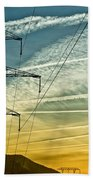 Power In The Sky Beach Towel