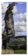 Powis Castle Statuary Beach Towel