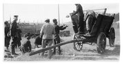 Pows Unload Cabbages For Lunch Beach Towel
