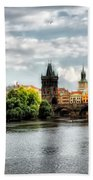Prague Panorame Beach Towel