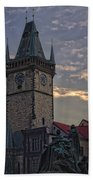 Prague Old Town Hall Beach Towel