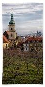 Prague View From The Gardens Beach Sheet