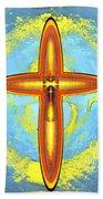 Prayer Cross For Brenda Lee Hager Morgan 8 Beach Towel