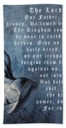 Praying Hands Lords Prayer Beach Towel by Albrecht Durer