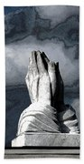 Praying Hands Beach Towel