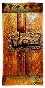 Pre-civil War Bookcase-glass Doors Latch Beach Towel