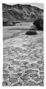 Prehistoric - Clark Dry Lake Located In Anza Borrego Desert State Park In California. Beach Towel