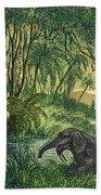 Prehistoric, Miocene Landscape Beach Towel