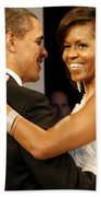President And Michelle Obama Beach Towel by Official Government Photograph