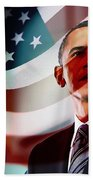 President Barack Obama Beach Towel