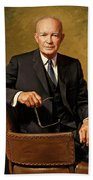 President Dwight D. Eisenhower By J. Anthony Wills Beach Towel