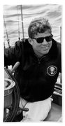 President John Kennedy Sailing Beach Towel by War Is Hell Store