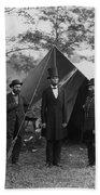 President Lincoln At Antietam Beach Towel