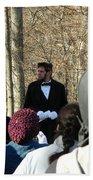 President Lincoln Speaks Beach Towel