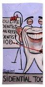 Presidential Tooth Dental Art By Anthony Falbo Beach Towel