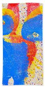 Pressed Paint Beach Towel