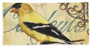 Pretty Bird 3 Beach Towel