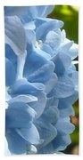 Pretty Blue Flower Beach Towel