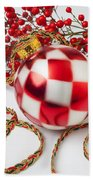 Pretty Christmas Ornament Beach Towel