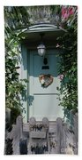 Pretty Door In Nether Wallop Beach Towel