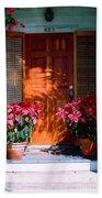 Pretty House Door In Key West Beach Towel by Susanne Van Hulst
