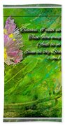 Pretty Little Weeds With Photoart And Verse Beach Towel