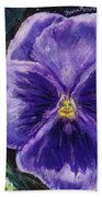Pretty Purple Pansy Person Beach Towel