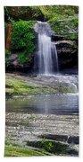 Pretty Waterfalls In Rainforest Beach Towel
