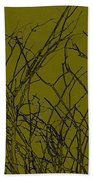 Prickly Branches Beach Towel