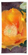 Prickly Pear Blossom Beach Towel