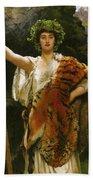 Priestess Bacchus Beach Towel by John Collier