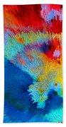 Primary Joy - Abstract Art By Sharon Cummings Beach Towel