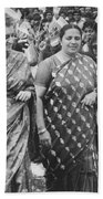 Prime Minister Indira Gandhi Beach Towel