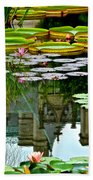 Prince Charmings Lily Pond Beach Towel