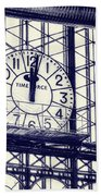 Principe Pio Clock Beach Towel by Joan Carroll