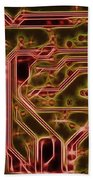 Printed Circuit - Motherboard Beach Towel