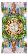Prism Rainbow Mandala Beach Towel