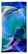 Prismatic Orchid Swirl Beach Towel