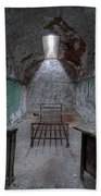 Prison Cell At Eastern State Penitentiary Beach Towel
