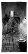 Prison Cell Black And White Beach Towel