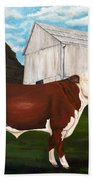 Prize Bull Beach Towel