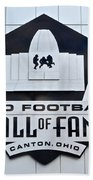 Pro Football Hall Of Fame Beach Towel