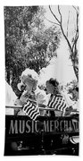 Pro-viet Nam War March Beaver's Band Box Musicians Tucson Arizona 1970 Black And White Beach Towel