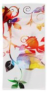 Profound Thought Rose Vine Beach Towel