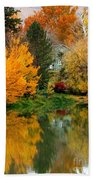 Prosser - Fall Reflection With Hills Beach Towel